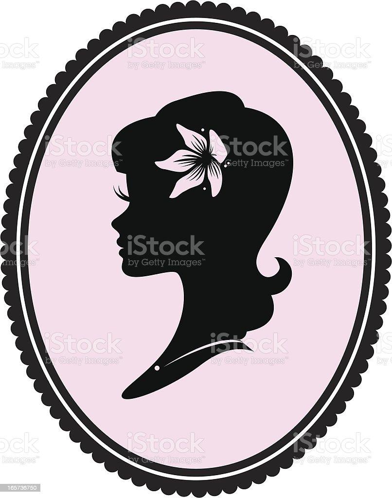 Pin Up Girl Cameo royalty-free stock vector art