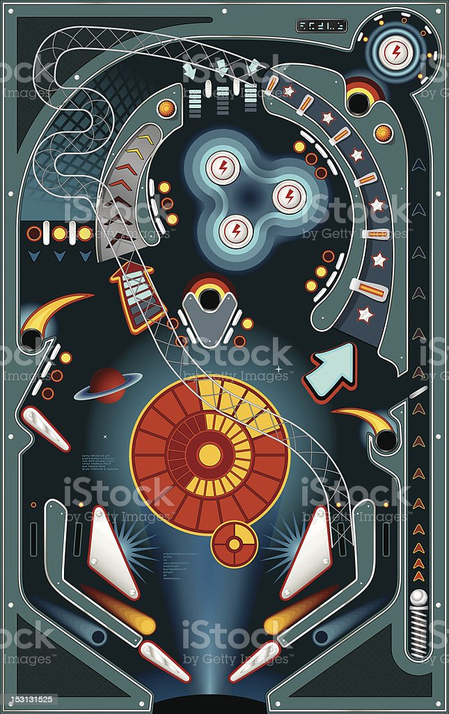 Pinball vector art illustration