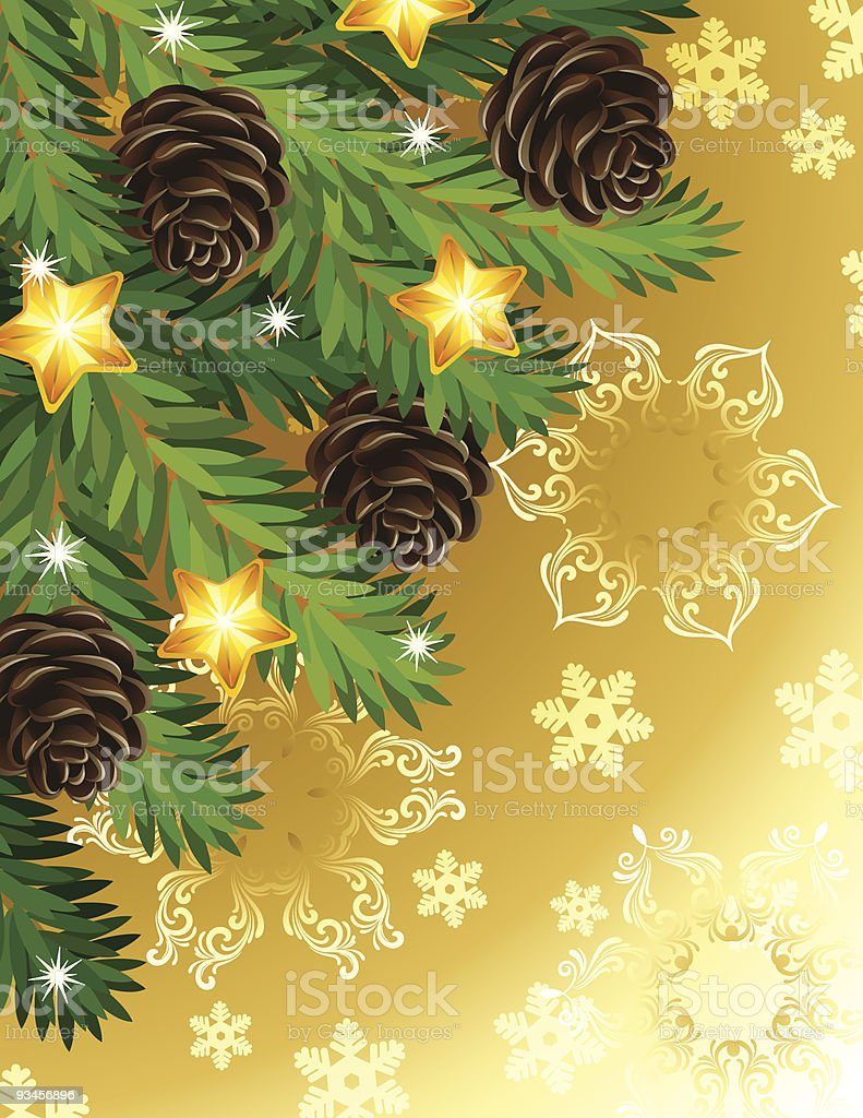 Pine branches royalty-free stock vector art