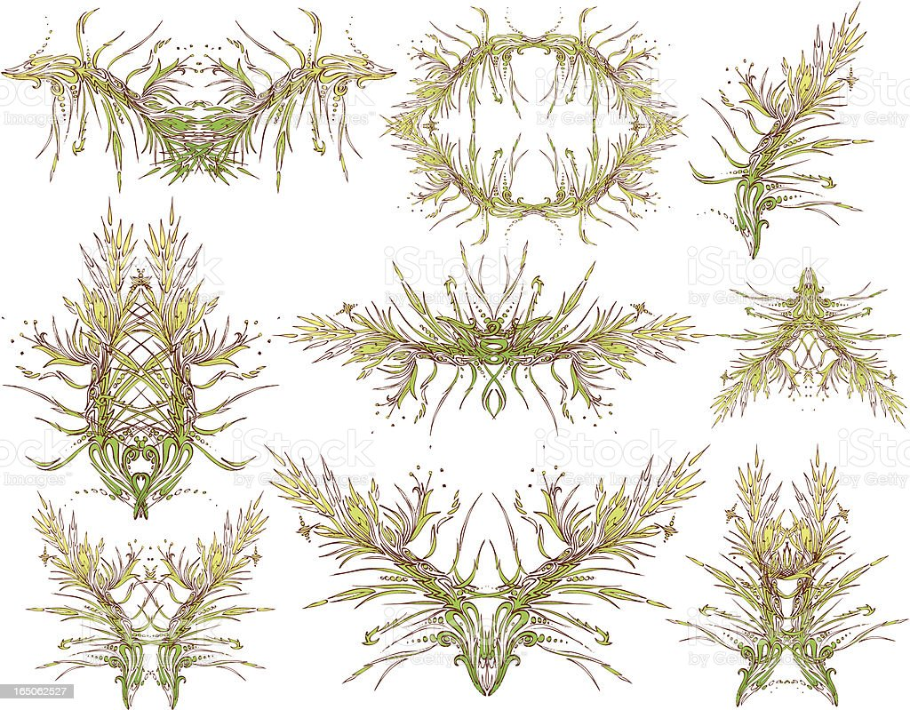 pine-Dekor Lizenzfreies vektor illustration