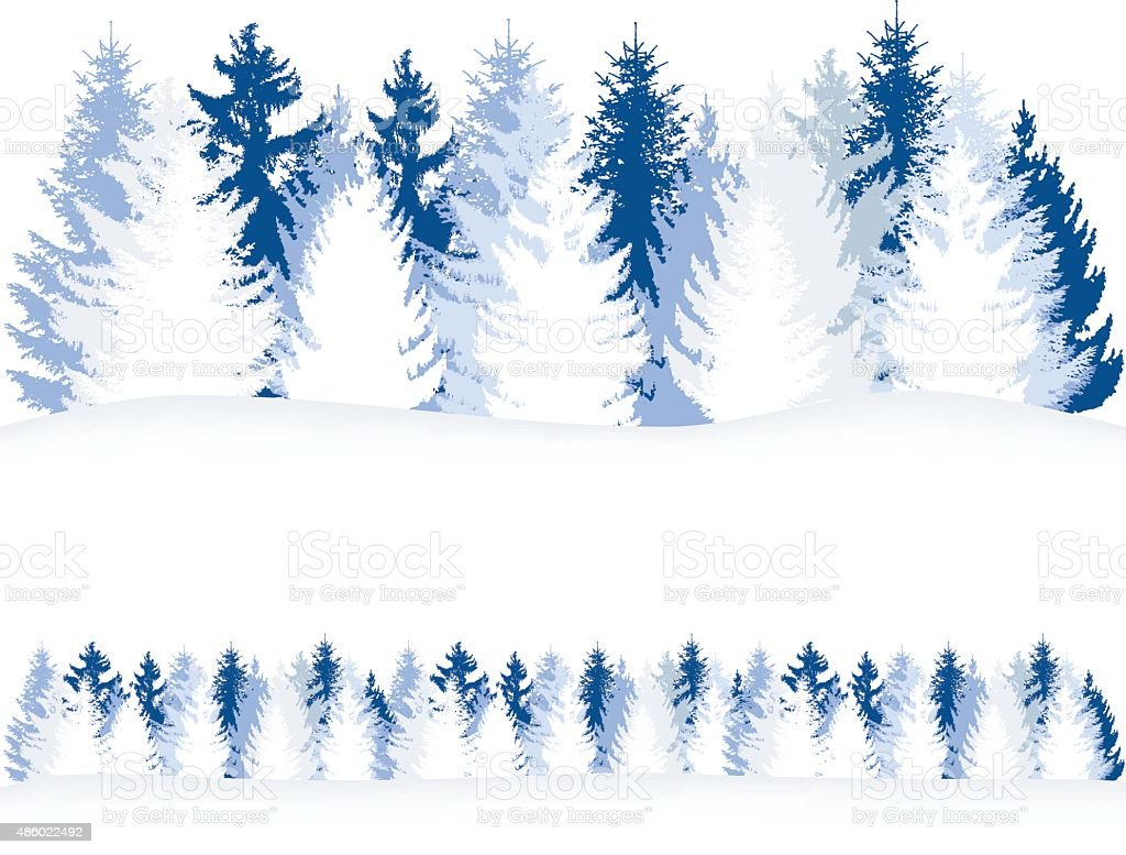 Pine Tree Forest vector art illustration