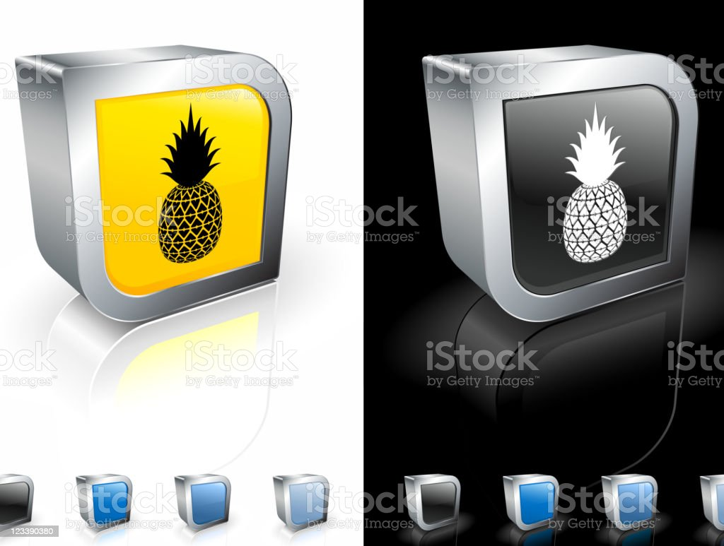 pineapple 3D royalty free vector art royalty-free stock vector art