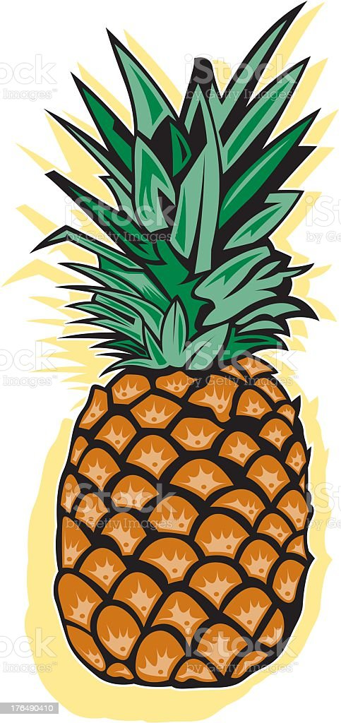 Pineapple royalty-free stock vector art