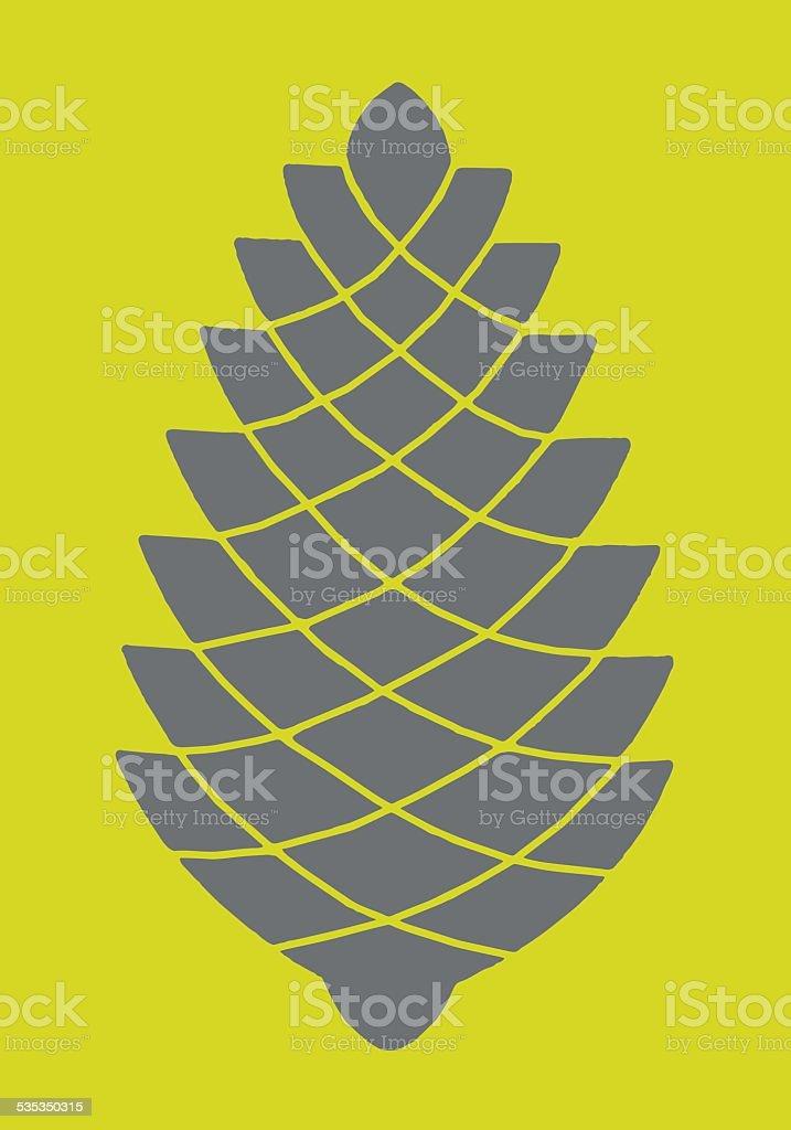Pinecone vector art illustration