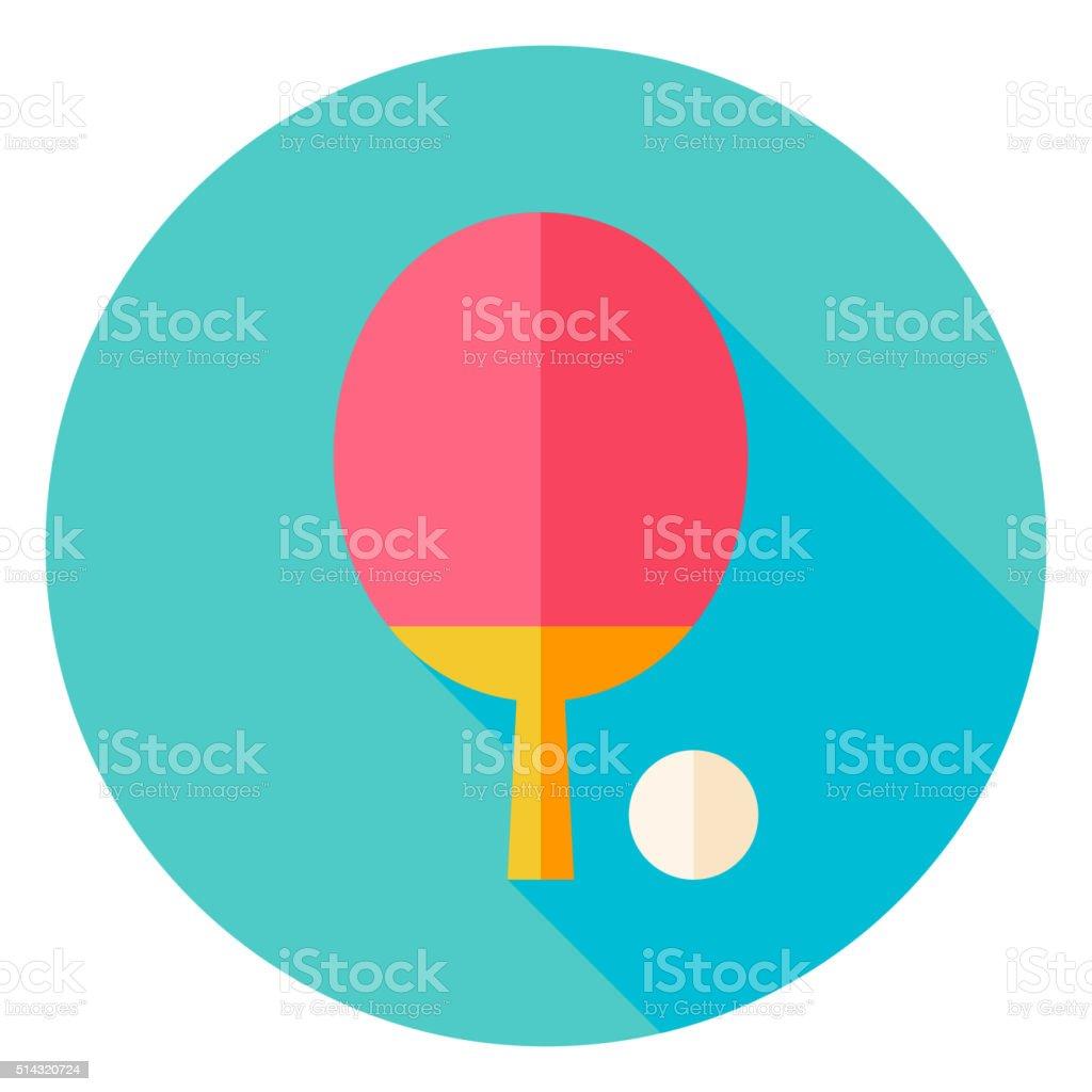 Ping Pong Circle Icon vector art illustration