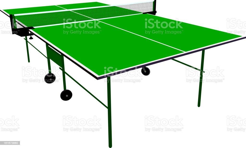 Ping pong green table tennis. royalty-free stock vector art