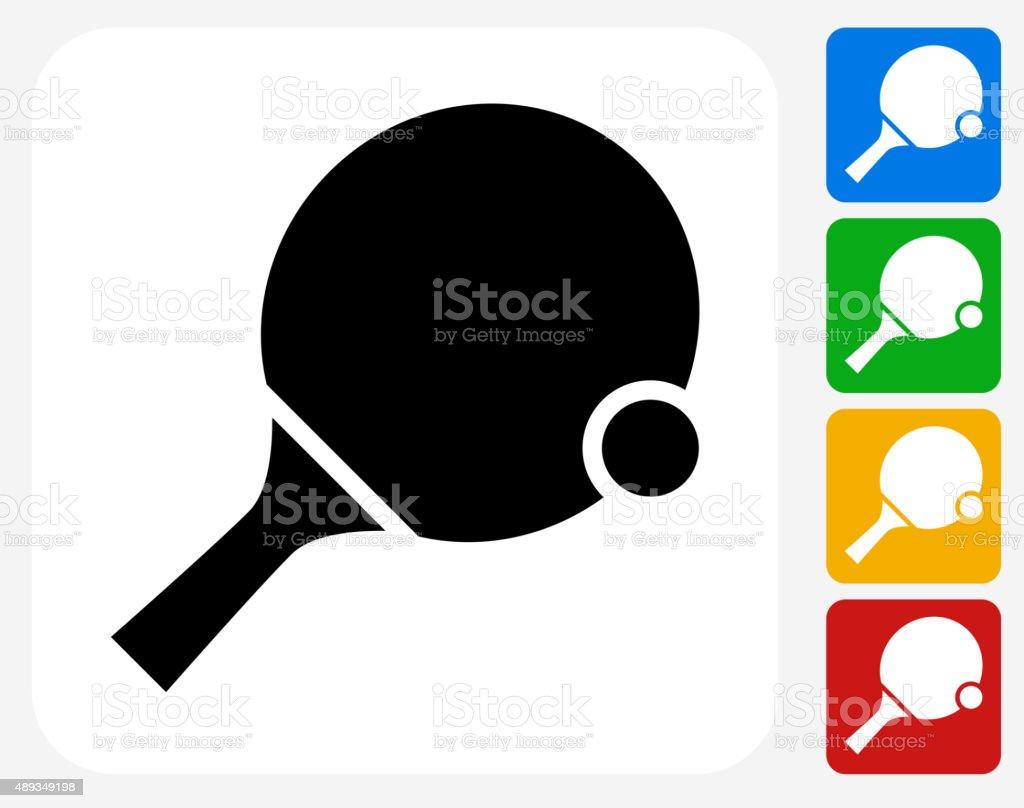 Ping Pong Icon Flat Graphic Design vector art illustration