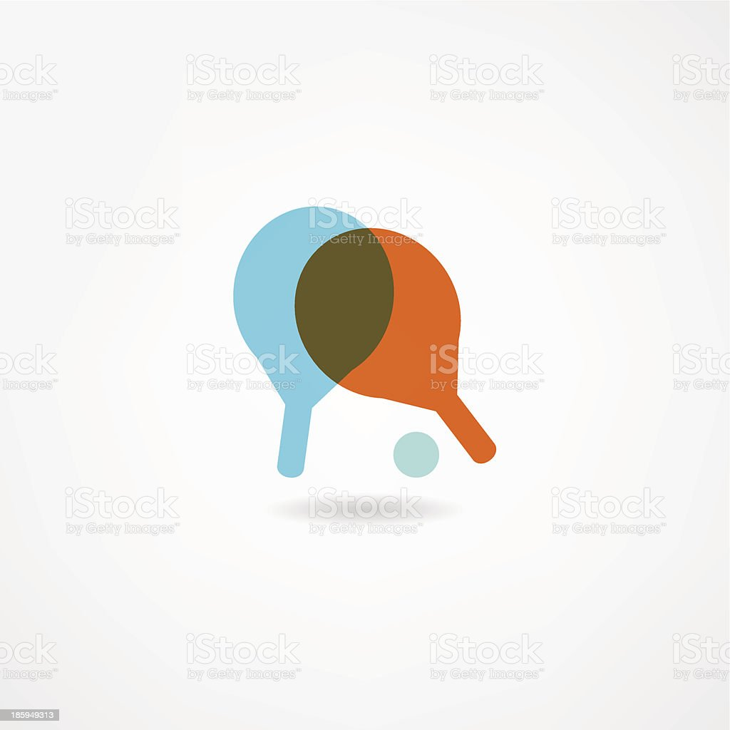 Ping Pong icon royalty-free stock vector art