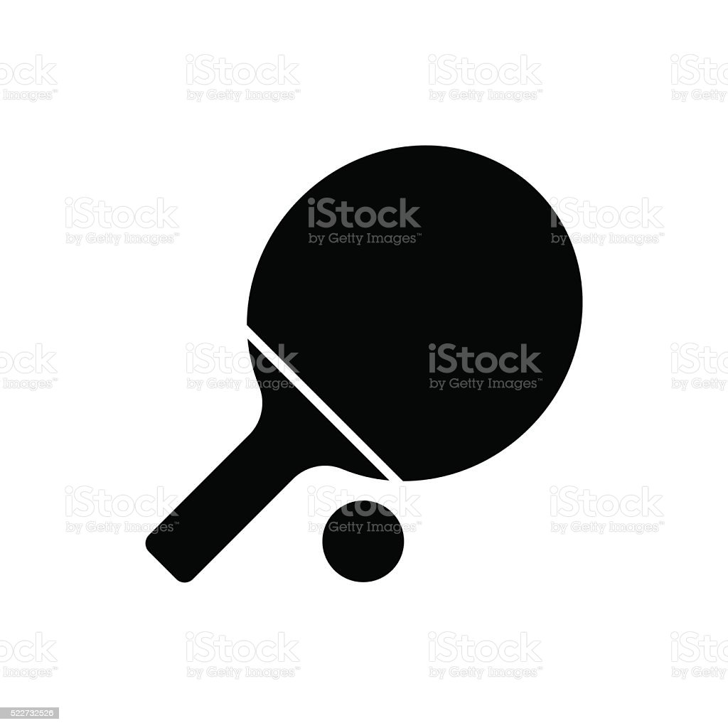 Ping pong paddle icon. Vector illustration vector art illustration