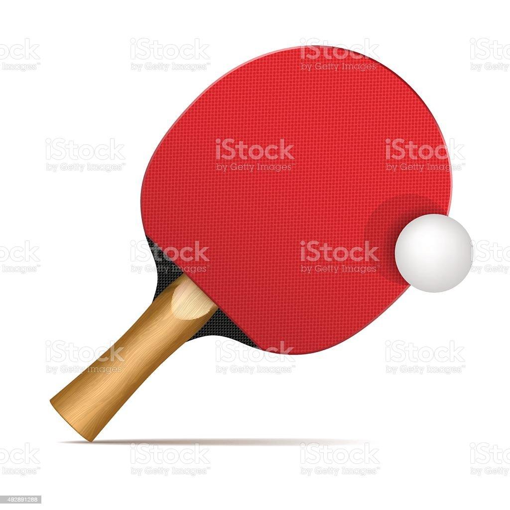 Ping pong paddles and balls vector art illustration