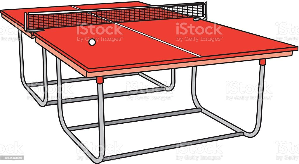 Ping Pong Table royalty-free stock vector art