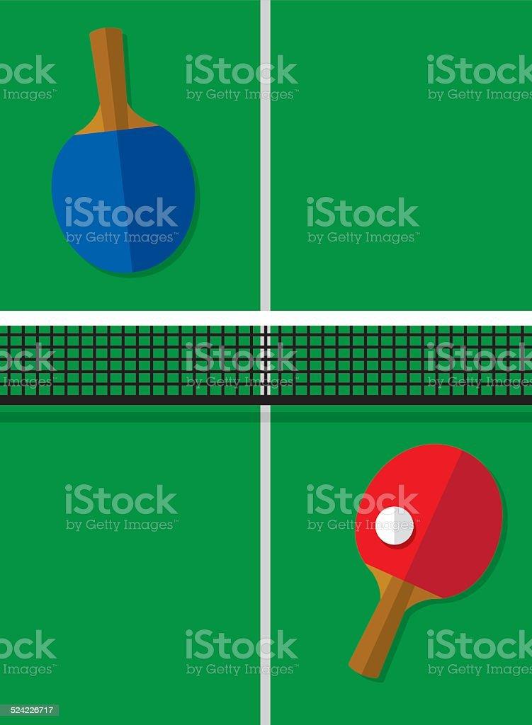 Ping Pong Table vector art illustration