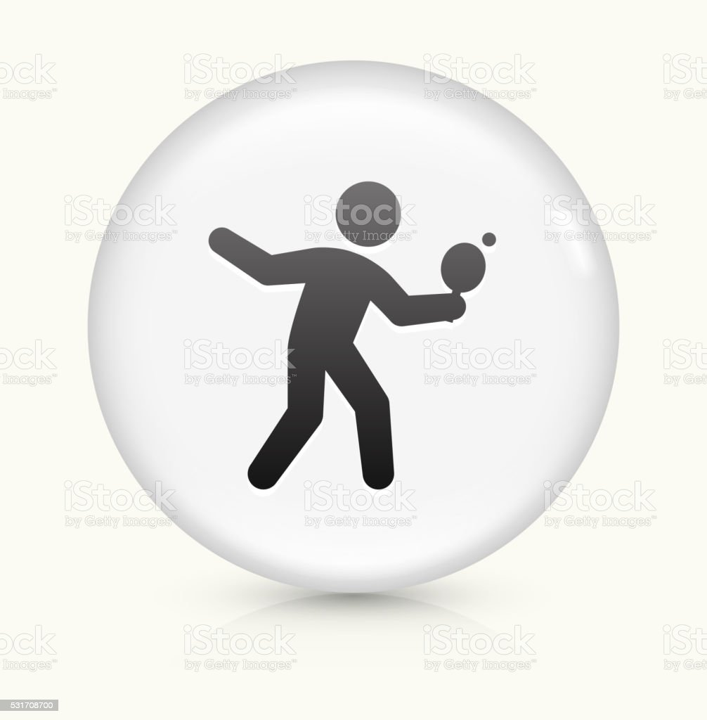 Ping-Pong icon on white round vector button vector art illustration