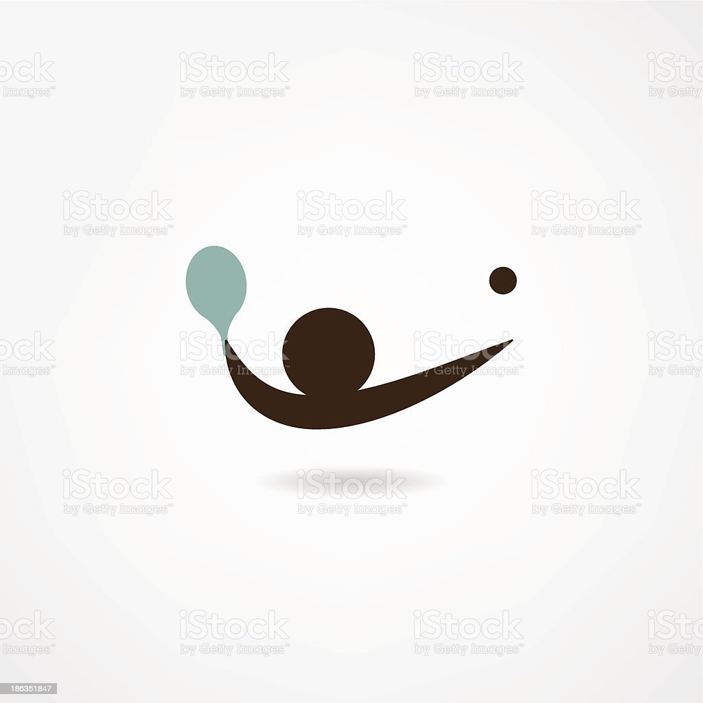 ping-pong icon royalty-free stock vector art