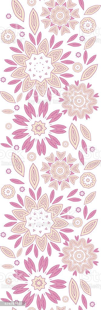 Pink abstract flowers vertical seamless pattern background royalty-free stock vector art