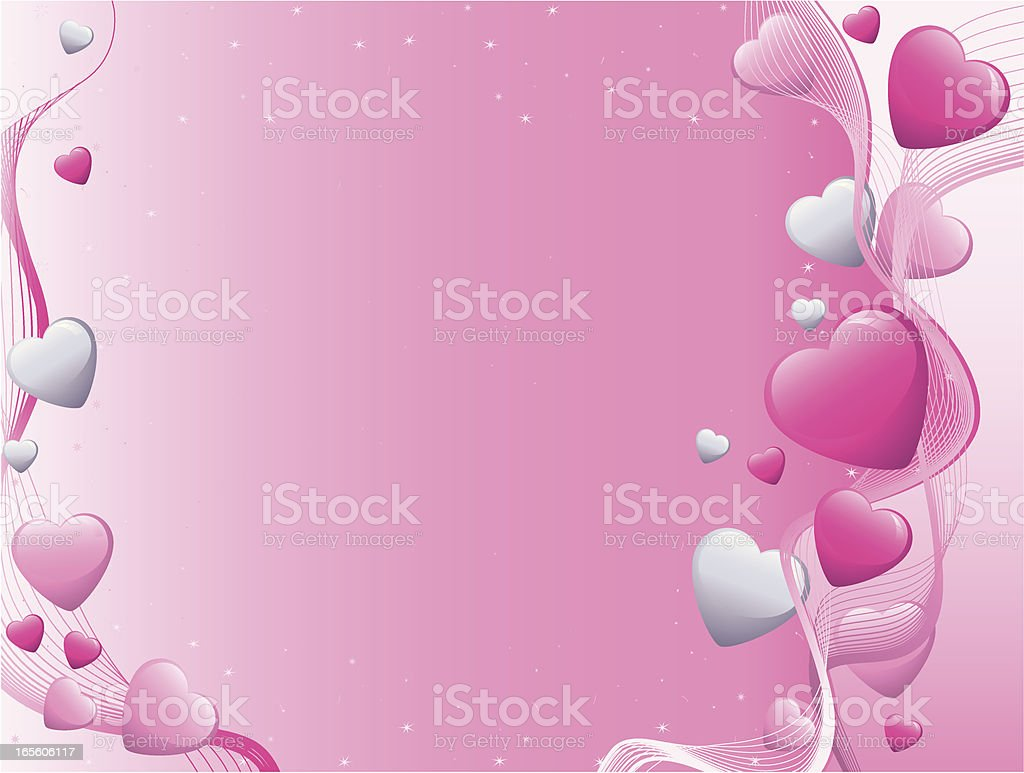 Pink and grey Valentine Heart Background royalty-free stock vector art