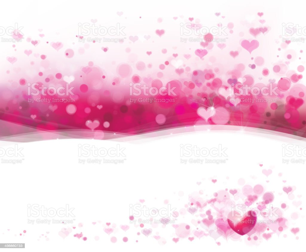 A pink background made of hearts for Valentine's Day vector art illustration