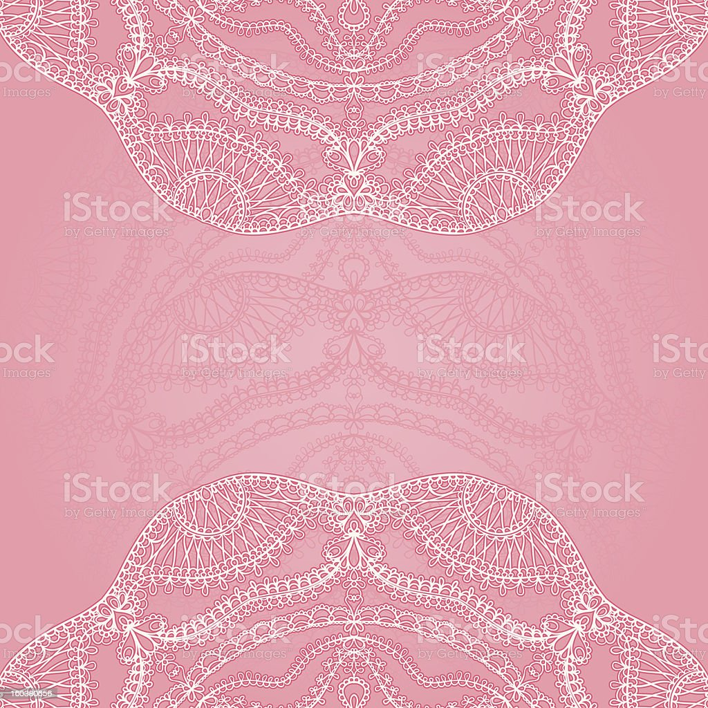 pink background white lace royalty-free stock vector art
