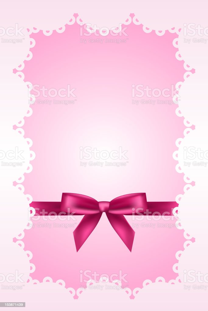 pink background with lace royalty-free stock vector art