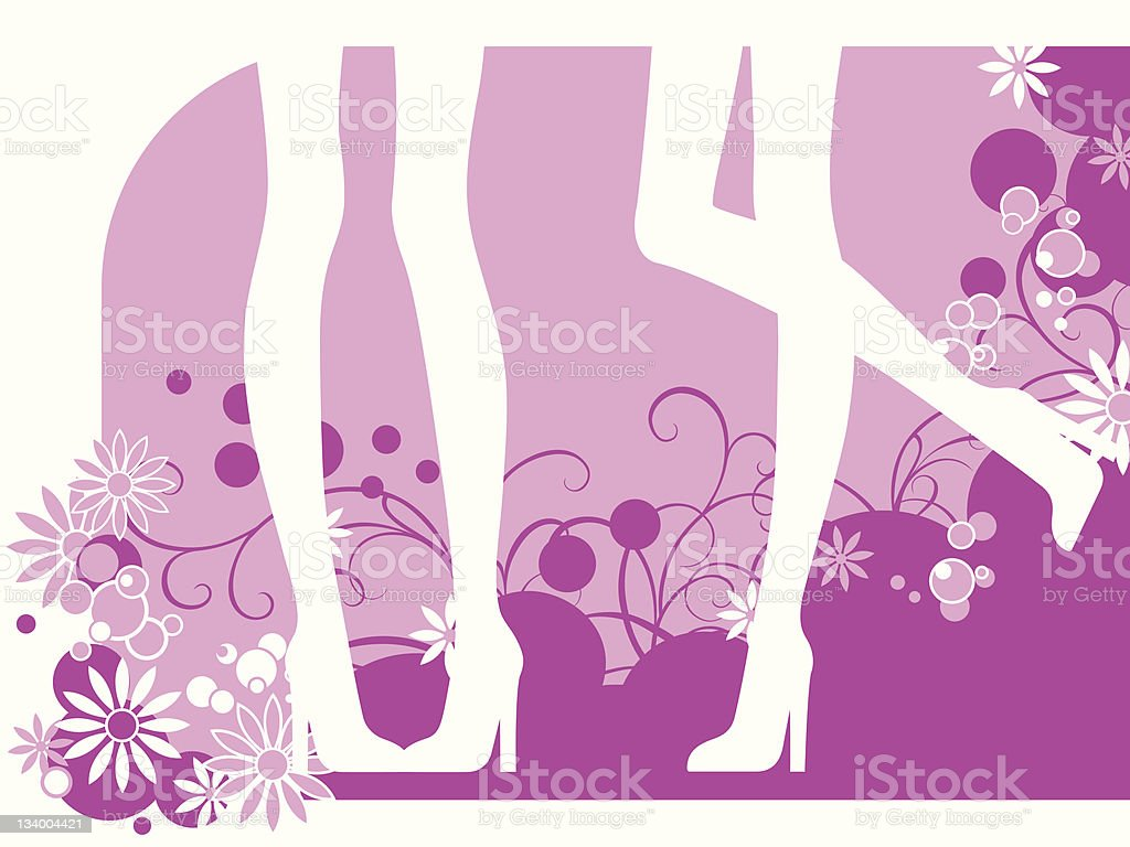 pink background with women legs royalty-free stock vector art