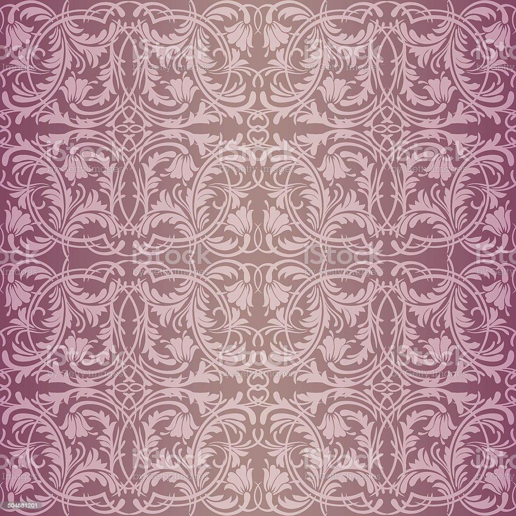 Pink baroque pattern vector art illustration