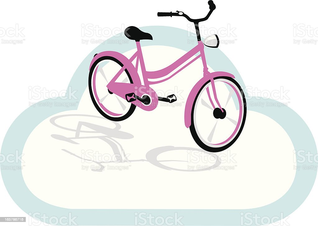 pink bicycle design royalty-free stock vector art