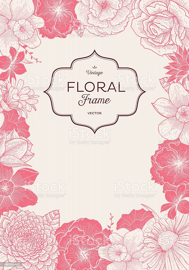 Pink Blooming Event vector art illustration
