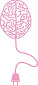 Pink Brain With Plug icon