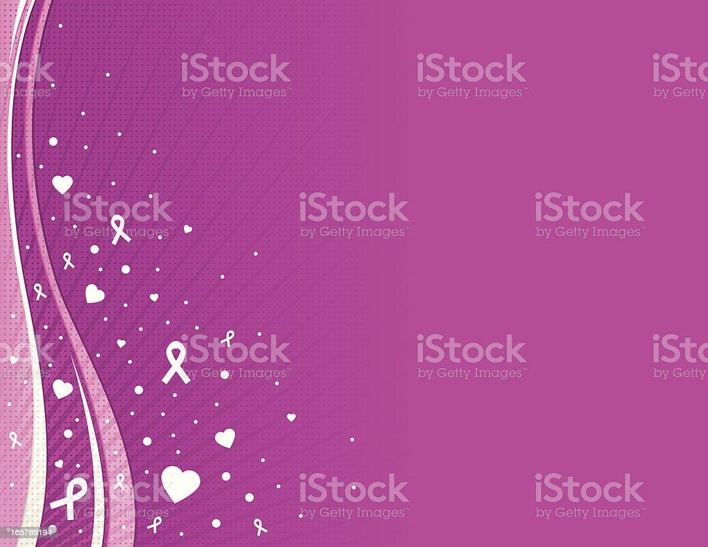 Pink Breast Cancer Awareness Background vector art illustration