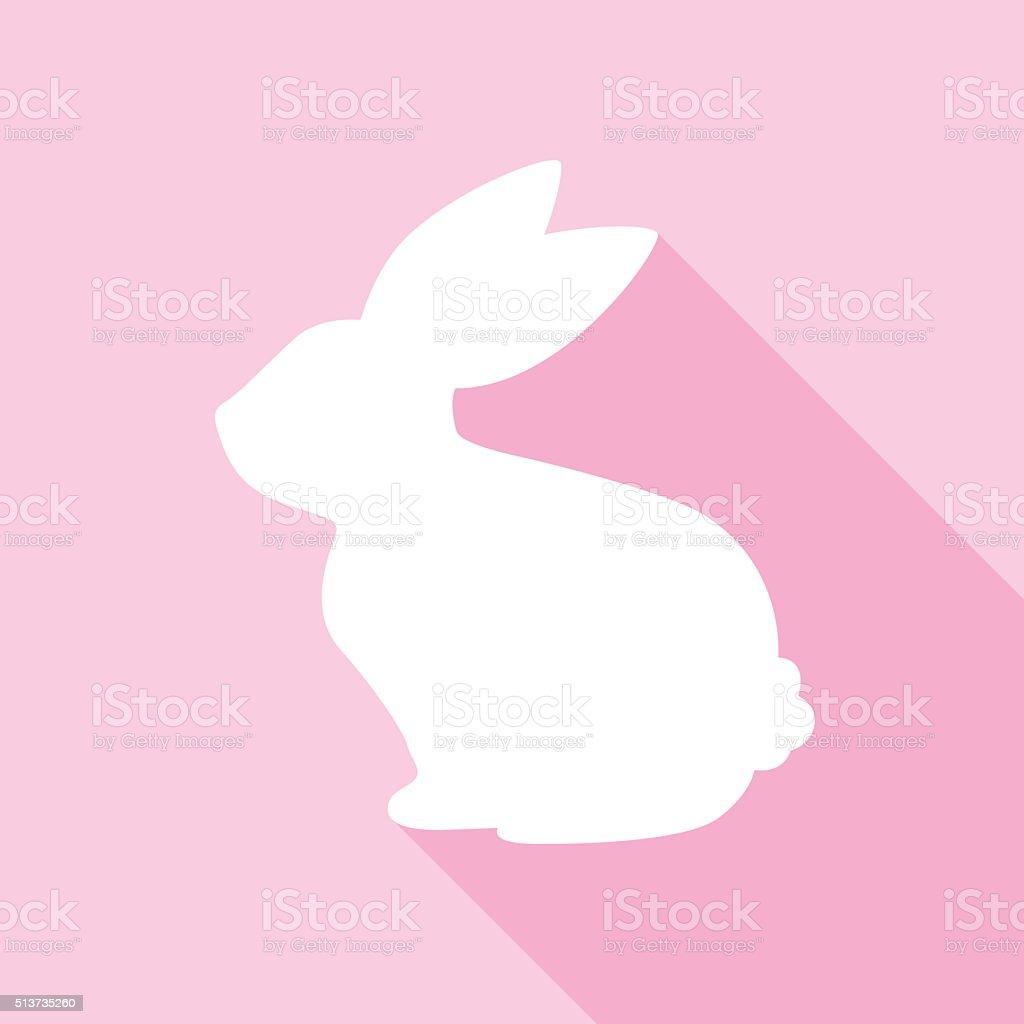 Pink Bunny Icon vector art illustration