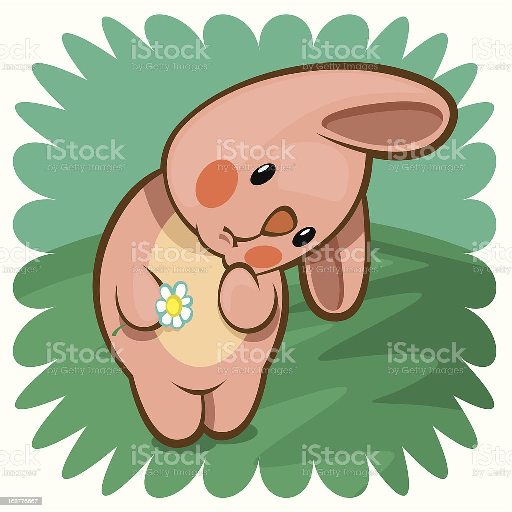 pink bunny royalty-free stock vector art