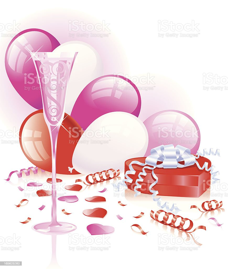 Pink Celebration royalty-free stock vector art