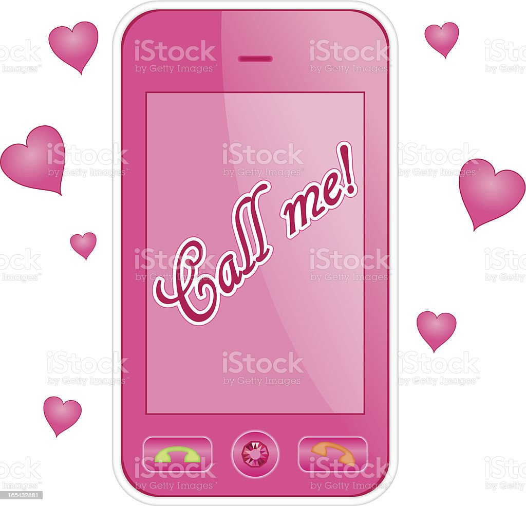 Pink cell phone. Eps 10 royalty-free stock vector art