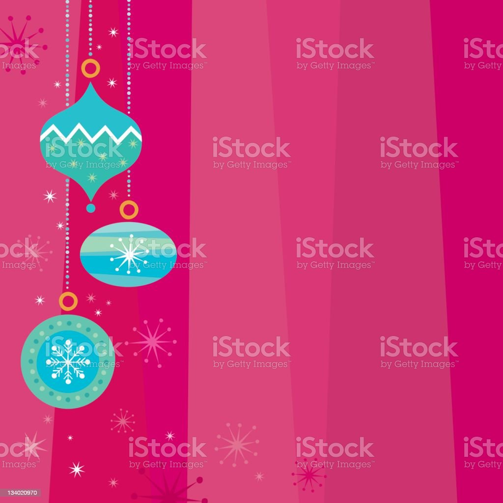 Pink Christmas background stock photo