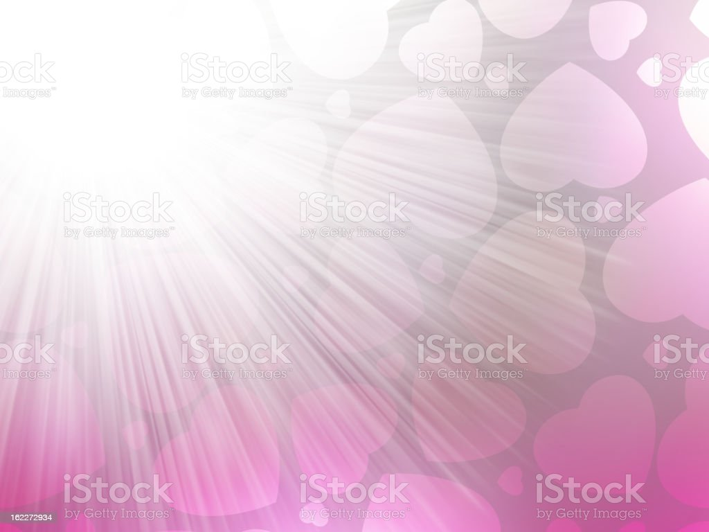 Pink color design with a hearts. EPS 8 royalty-free stock vector art