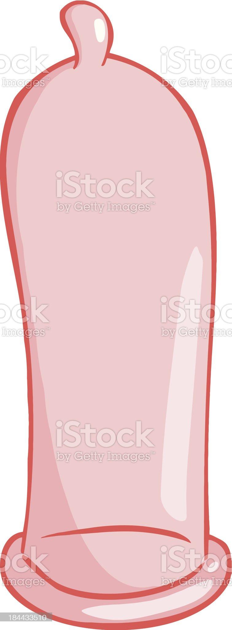 Pink Condom royalty-free stock vector art