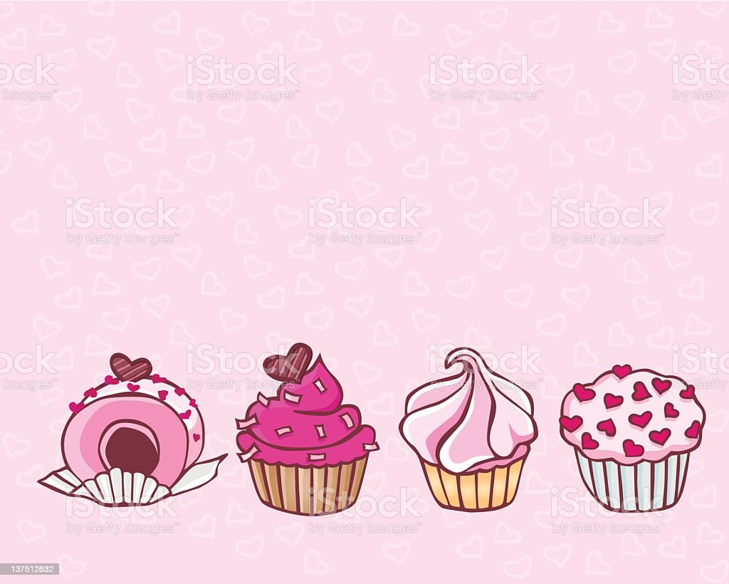 Pink Cupcakes royalty-free stock vector art