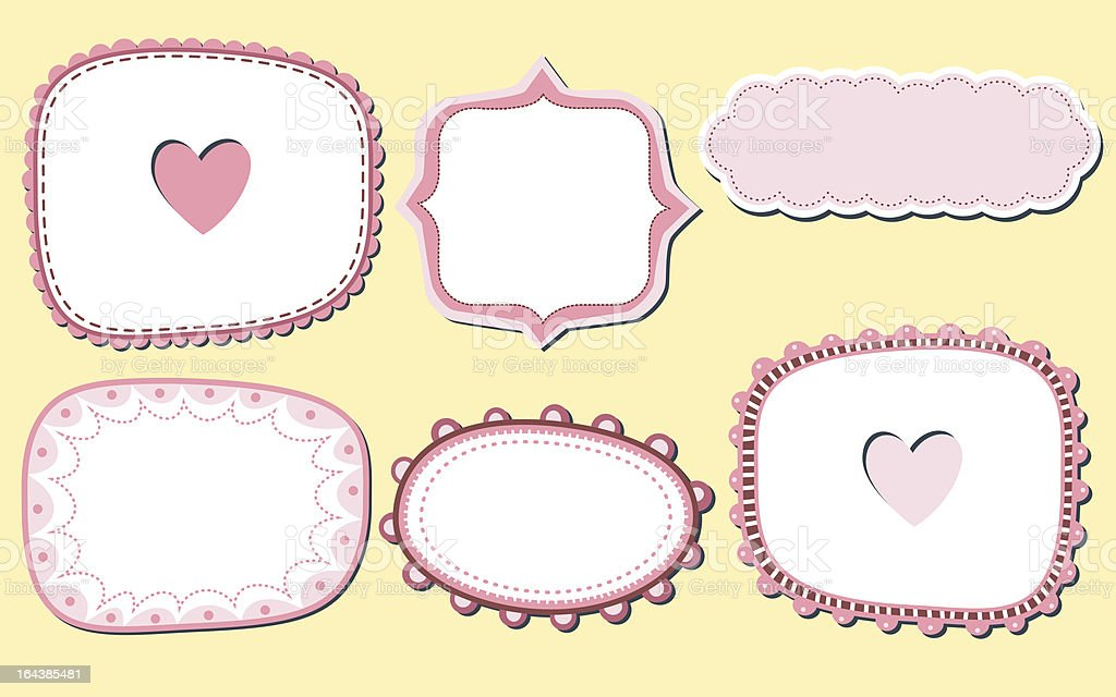 Pink cute frames royalty-free stock vector art