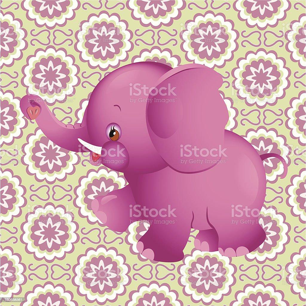 pink elephant royalty-free stock vector art