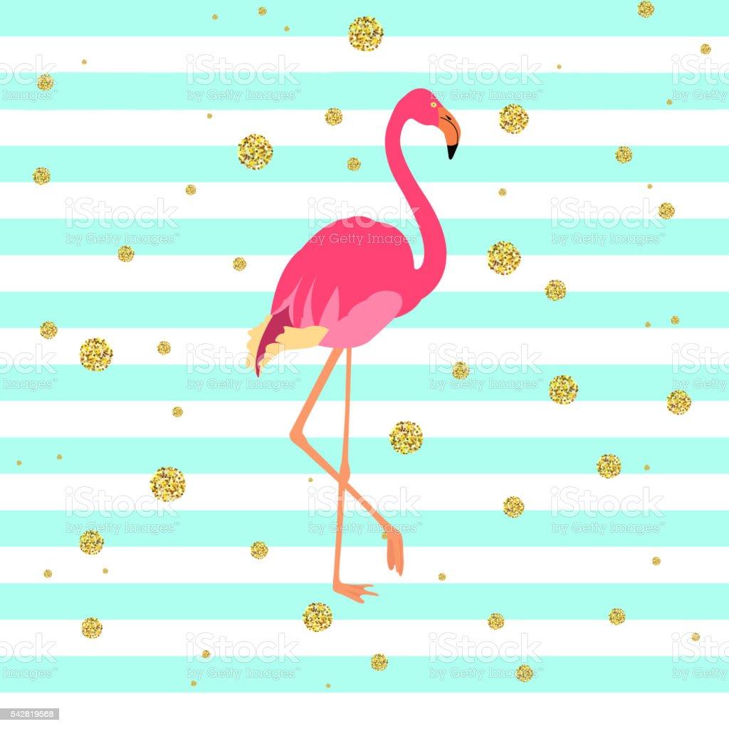 Pink flamingo illustration vector art illustration