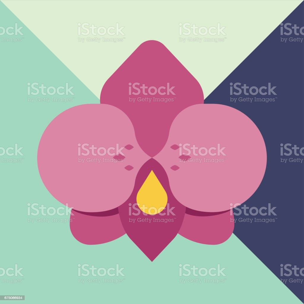 Pink flat flower icon with geometry modern fashion background pink flat flower icon with geometry modern fashion background royalty free stock vector art dhlflorist Images
