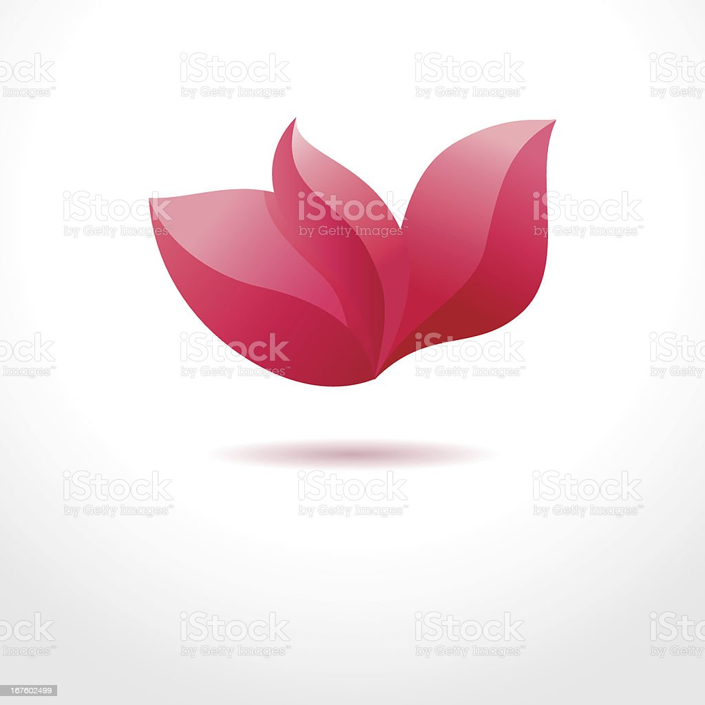 Pink flower. Business abstract symbol vector art illustration