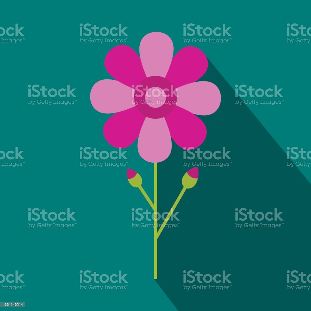 Pink flower icon in flat style stock vector art 664145214 istock pink flower icon in flat style royalty free stock vector art dhlflorist Images