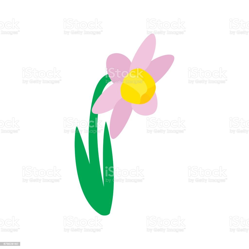 Pink flower icon isometric 3d style stock vector art 679528182 pink flower icon isometric 3d style royalty free stock vector art dhlflorist Images