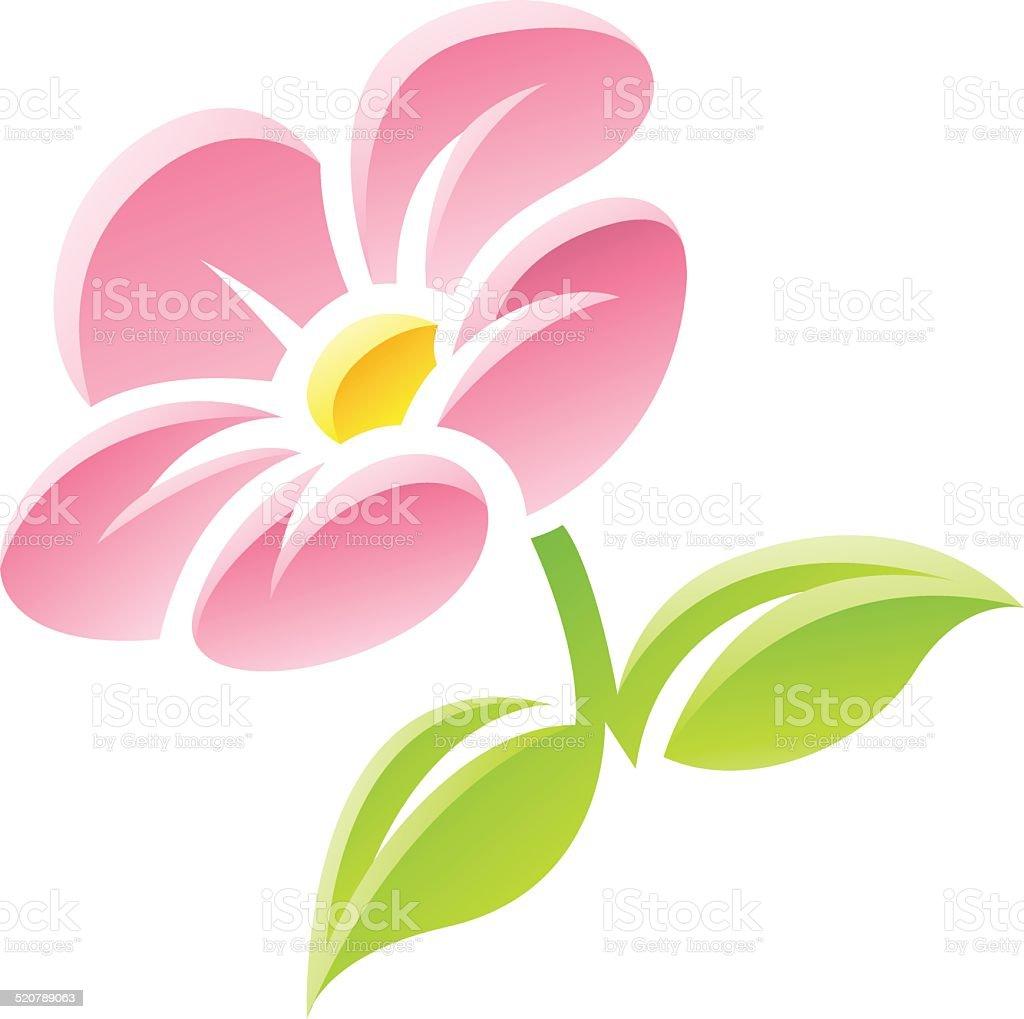 Icône de fleur rose stock vecteur libres de droits libre de droits
