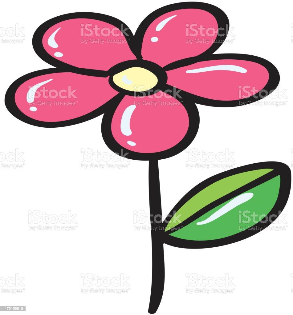 Pink flower royalty-free stock vector art