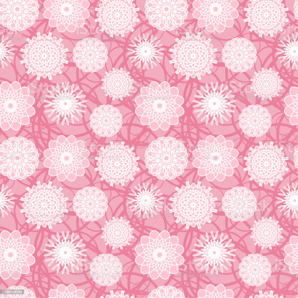 Pink Flowers Seamless Pattern royalty-free stock vector art