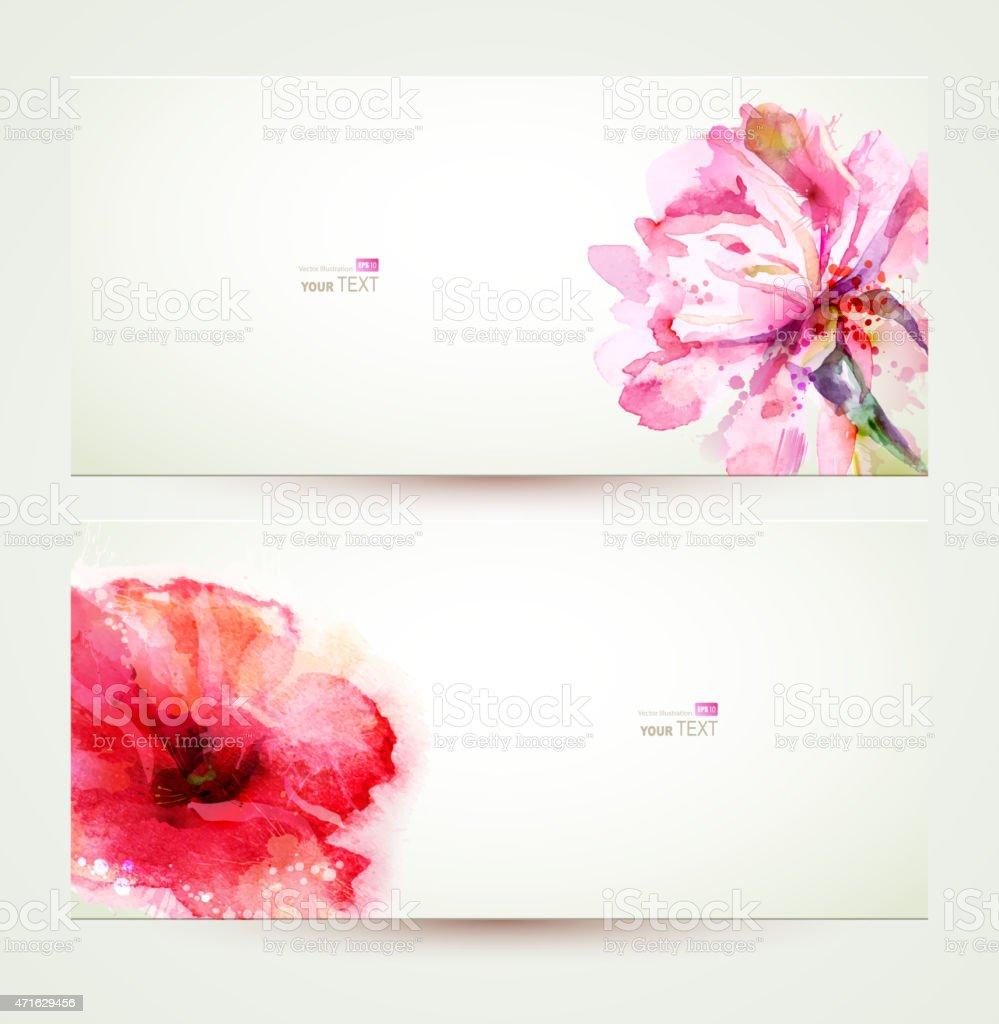 pink flowers vector art illustration