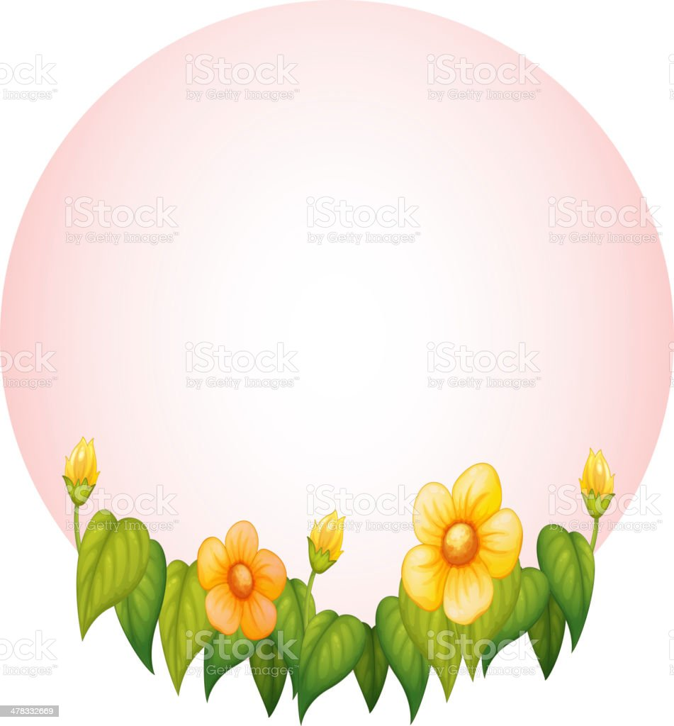 Pink frame with flower royalty-free stock vector art