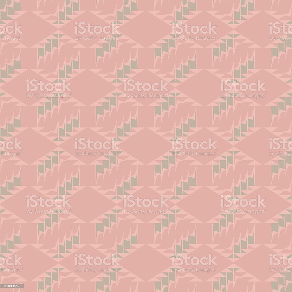 Pink geometric vector seamless pattern with diamonds and triangl vector art illustration